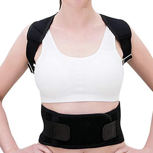 (DONTAL Posture Adjustable Strap Back Humpback Waist with Straighten Strap Straightening Black)