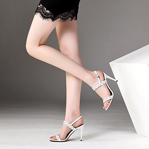 Toe Robe Party Chaussures White Mariée Hauts Slingback Sandales Court Open Talons Robe été Shoes Pompes Femmes Sexy De 7wxFOAEA