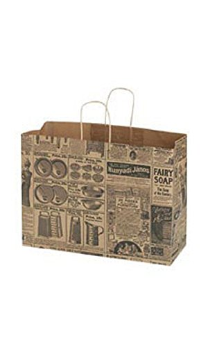 Large Newsprint Paper Shopping Bags - Case of 100 by STORE001