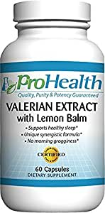 ProHealth Valerian Extract with Lemon Balm (160 mg, 60 capsules)