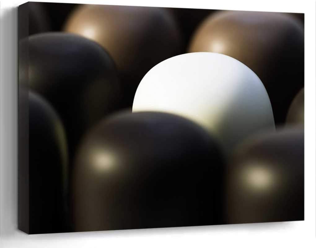 Amymami Wall Art Print Canvas Framed Artwork Home Decor(20x16 in)- Chocolate Marshmallow SMore Mohrenkopf