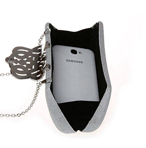 mode de Flash cosmétique Silver à sac bandoulière style Portable sac strass FZHLY la Cross robe multicolore soirée Femmes à embrayage sac qw8tz