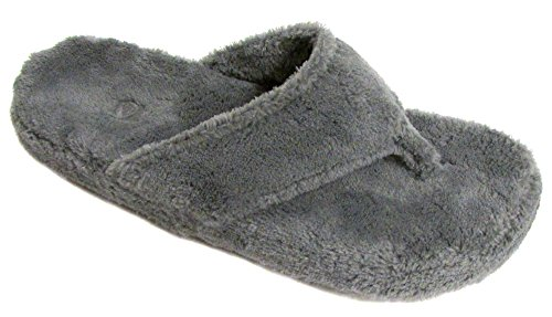 ACORN Women's New Spa Thong Slipper,Grey,/8-9 M US