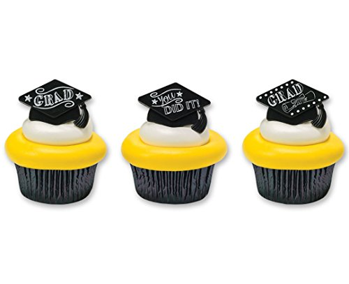 Graduation Party Favor Cupcake Topper Rings - 24 pc by Bakery Supplies]()
