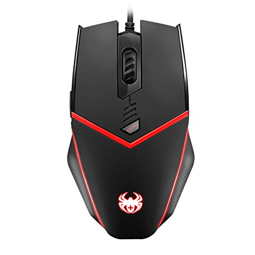 (AMIR Gaming Mouse, USB Wired Ergonomic Optical PC Computer Gaming mice, Adjustable DPI 500-3200, 8 Adjustable Weights + Programable Driver + 6 Programmable Button)