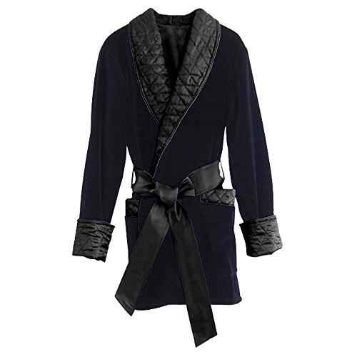 Regency New York Men's Smoking Jacket (Large, Midnight Navy)]()