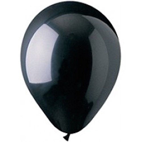 CTI 12'' BALLOONS FOR PARTY'S AND CELEBRATIONS (BLACK)