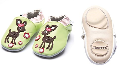 Jinwood designed by amsomo - Zapatillas de estar por casa para niña Multicolor - deer green mini shoes