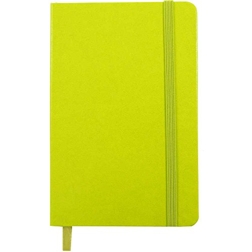 JAM PAPER Hardcover Notebook with Elastic Band - Large Journal - 5 7/8 x 8 1/2 - Green Apple - 100 Lined Sheets - Sold Individually