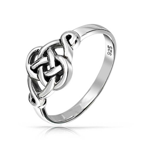 Irish Cut Out Celtic Love Knot Thin Band Delicate Infinity Endless 925 Sterling Silver Polished Finish Ring ()