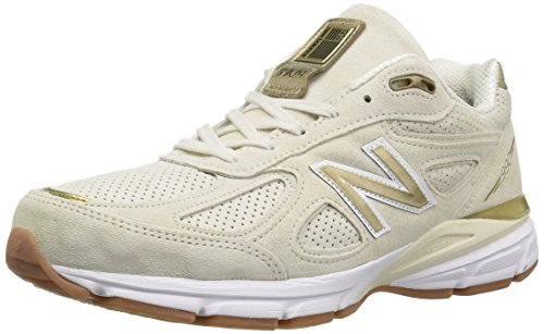 New Balance Men's 990v4 Running Shoe, Angora/White, 10 D US -  M990AG4-102-10 D US
