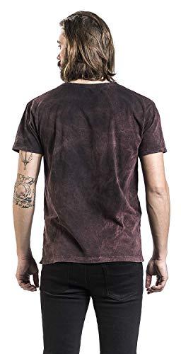 Slayer Gris Courtes shirt rouge T Manches Eagle zAqwr6z