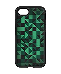 Geometric OtterBox Symmetry iPhone 7 Skin - Black & Green Vinyl Decal Skin for Your OtterBox Symmetry iPhone 7