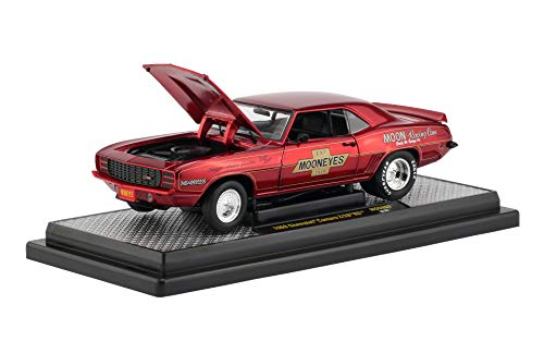 1969 Chevrolet Camaro R/28 RS Mooneyes Candy Red 1/24 Diecast Model Car by M2 Machines 40300-MOON02 B