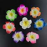 pleasantlyday-100Pcs-7Cm-Plumeria-Hawaiian-Foam-Frangipani-Flower3
