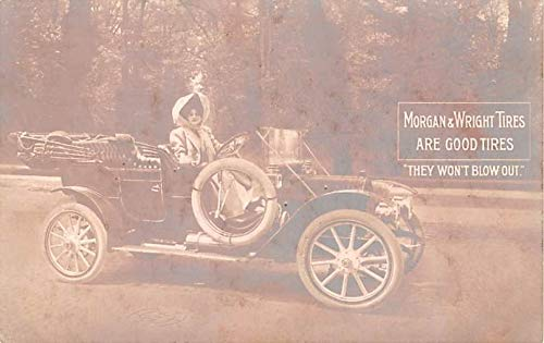 Advertising Post Card Morgan & Wright Tires Unused