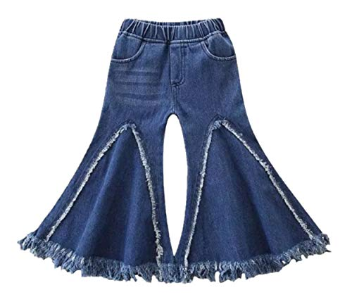Boutique Toddler and Girl Bell Bottom, Flare and Embellished Jeans. (Fringe Flare Bell Bottoms, 2T)