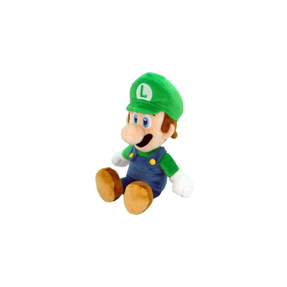 New Super Mario Bros. Wii 6 Inch Plush Sitting Luigi