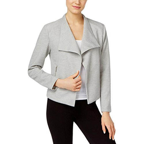 Calvin Klein Women's Textured Flyaway Jacket, Heather Granite, S