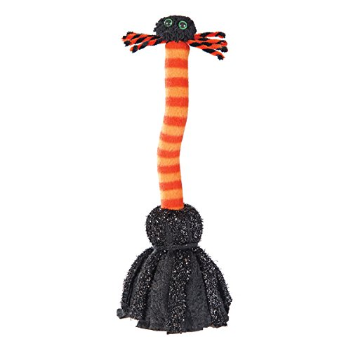 Musical Dancing Spider Broom Halloween