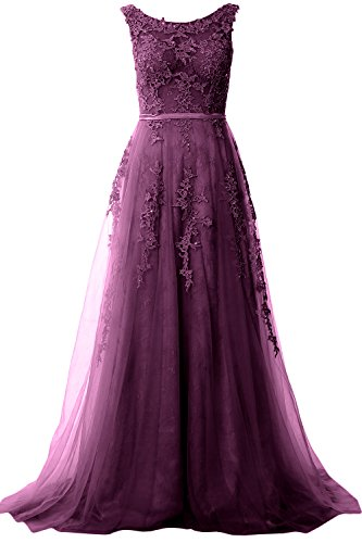 Eggplant Dress Prom Formal Party Long Lace Macloth Neck Vintage Women Gown Boat Evening 7qWwITCR