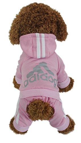LifeWheel Hundemantel Warm Wintermantel Haustier Mantel Hund Kleider, pink S