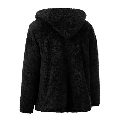 sided Men's Coat Loose Hoodie Noir Mericalfashion Tops Double Autumn Winter Casual Plush qfYnAwURxA