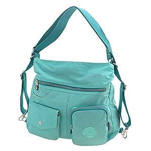 Baby Nappy Diaper Changing Bag Ladies Portable Bags Multi-Pocket Handbag Cross Body Bag Green