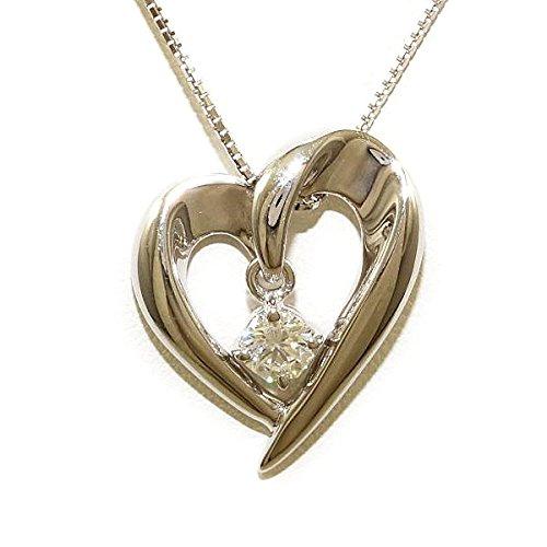 K18 18金 WG ホワイトゴールド ネックレス ダイヤ 0.335 SI1 鑑定書 中古ジュエリー B071S815RH