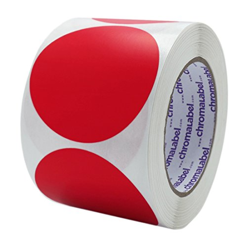 ChromaLabel 3 inch Color-Code Dot Labels | 500/Roll (Red)
