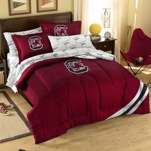 The Northwest Company Officially Licensed NCAA South Carolina Gamecocks Twin/Full Size Comforter with Sham Set