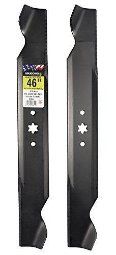 MAXPOWER 561544 2-Blade Set for 46 Inch Cut MTD/Cub Cadet/Troy-Bilt, Replaces 742-04244, 742-04290, 942-04244, 942-04290,