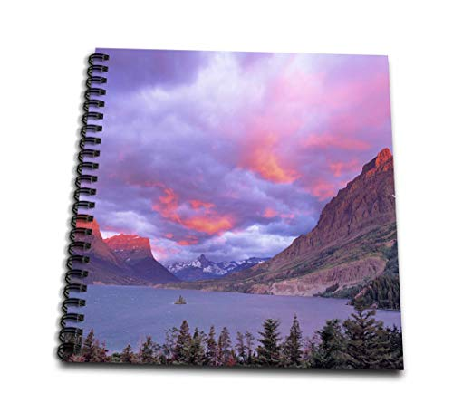 (3dRose db_91922_3 Wild Goose Island in Glacier National Park in Montana-US27 CHA1958-Chuck Haney-Mini Notepad, 4 by)