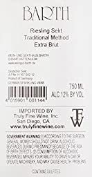 NV Barth Riesling Sekt Extra Brut (Champagne Method) Germany Wine750ml