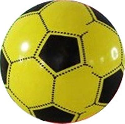 Pelota de plástico para niños, 23 cm, color amarillo: Amazon.es ...