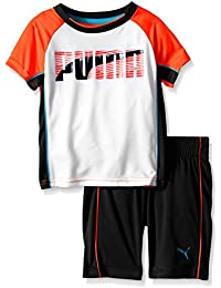 PUMA Boys' Short Sleeve Tee and Short Set