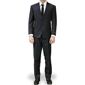 B00BTMW466 Dolce Vita Slim Fit Suit – Charcoal-Size: 40S-Sleeve: Short-Chest: 40