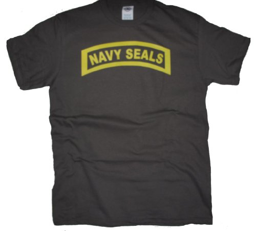 Got-Tee US Army Military Navy Seals T-Shirt L Charcoal