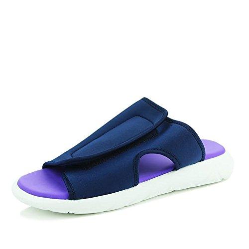 Hombres Sandalias Moda Del Eu 42 Patinador En Talón De Slipper Azul Al Los La Azul Tamaño Plano color Aire Libre 2018 Zapatos zwq0dnSz