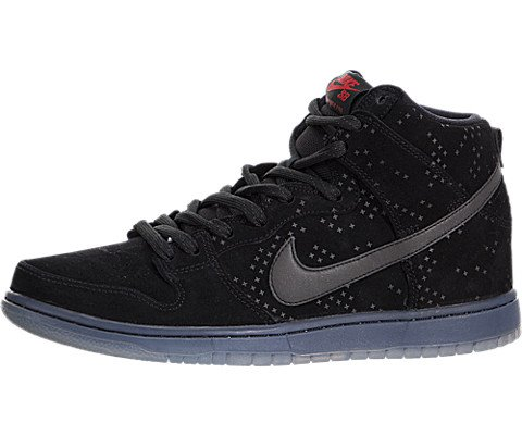 Nike Mens Dunk High Prem Flash Sb Black/Black/Clear Skate Shoe 10 Men US