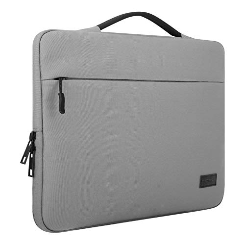 MoKo 13-13.5 Inch Laptop Sleeve Bag, Oxford Cloth Carry Case Cover Compatible with 13.3' MacBook Pro (2018 & 2017 & 2016) / MacBook Air, Surface Book 13.5', Protective Handbag for 13' Notebook, Gray