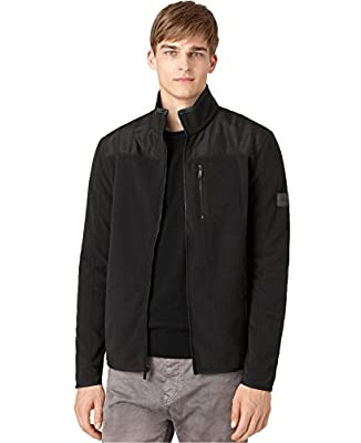 Calvin Klein Jeans Men's Nylon-Trim Fleece Jacket