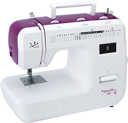 Jata MC750 Máquina de Coser con 31 diseños de Puntada y Ojal en 4 Tiempos, PVC, Blanco con Detalles en Rosa, MC750-Máquina: Amazon.es: Hogar