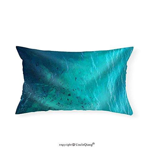 VROSELV Custom pillowcasesClear Water Ocean - Fabric Home Decor(16''x24'') by VROSELV
