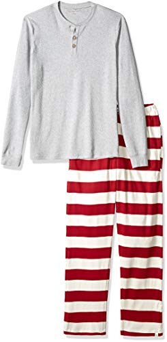 Burt's Bees Baby HM10289 Family Jammies, Cranberry Rugby Stripe, Holiday Matching Pajamas, Organic Cotton ()