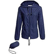Hount Women's Lightweight Hooded Raincoat Waterproof Packable Active Outdoor Rain Jacket