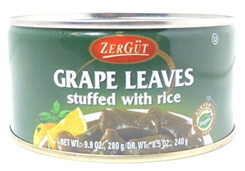 Zergut Stuffed Grape Leaves, Grape leaves stuffed with rice (8.5 Oz)