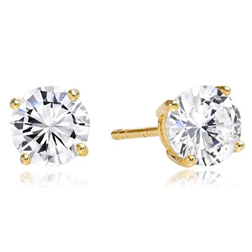 Sterling Silver Gold Toned Earrings