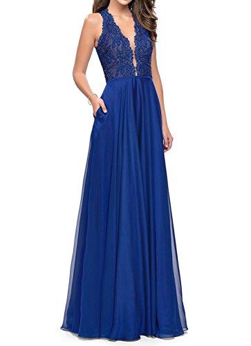 fecb5942b16 Charmant Damen Braun Langes Abendkleider Promkleider Partykleider  Abschlussballkleider A-Linie Rock Royal Blau