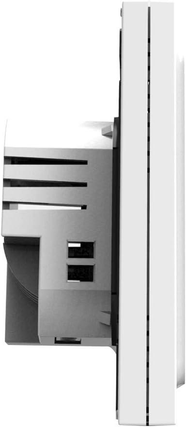 Festnight Termostato Per Caldaia a Gas Acqua Riscaldamento Display LCD 3A Touch Screen Controllo Accurato Temperatura Risparmio Energetico Settimanale Intelligente Accessori HVAC Famiglia